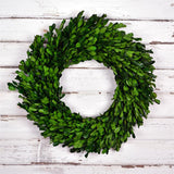 Preserved Boxwood Garden Wreath - 14 Inch - Bella Marie - 2