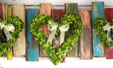 Preserved Boxwood Heart Wreath Set - Bella Marie - 5