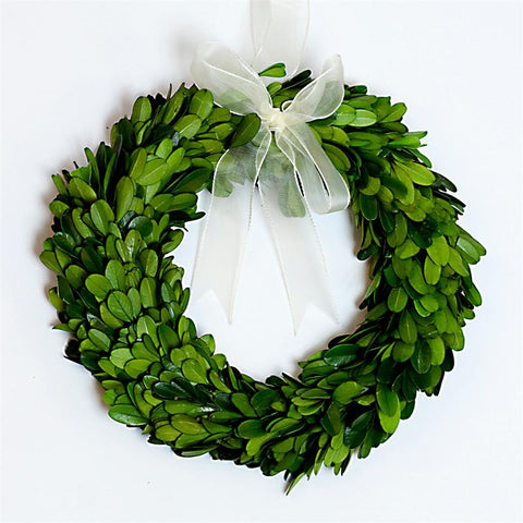 Preserved Boxwood Round Wreath - 8 Inch - Set of 3 Pieces