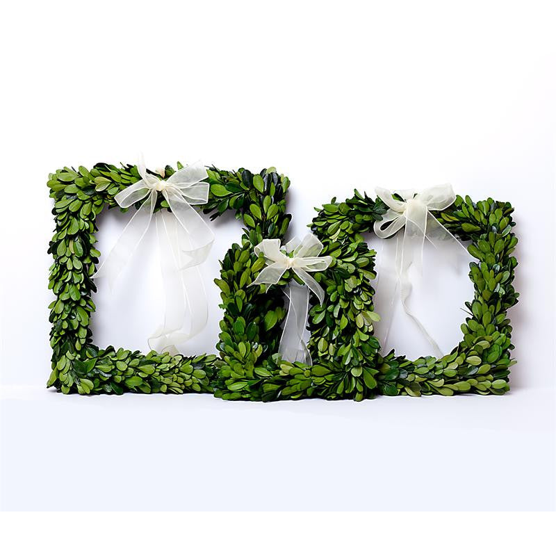 Preserved Boxwood Square Wreath Set - Bella Marie - 1
