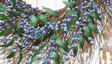 Fresh Blueberry Wreath - 24 Inch - close up