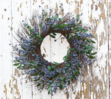 Spring Blueberry Wreath - 24 Inch