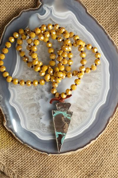 Mustard & Agate Necklace