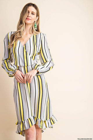 High Falutin' Dress- Yellow