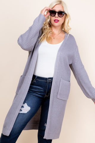 Gray Sweater Duster