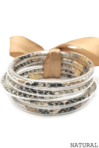 Snakeprint Jelly Bangles