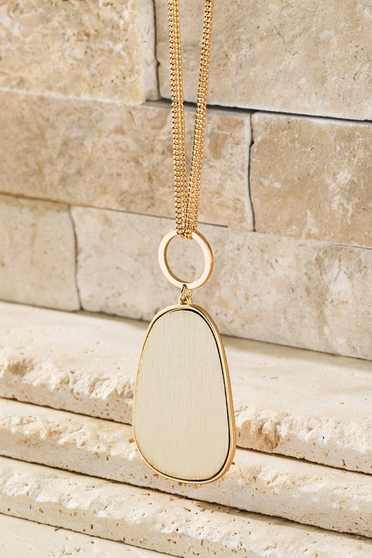 Oval Wood Necklace