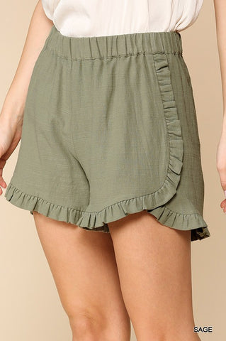 Sage Ruffled Shorts