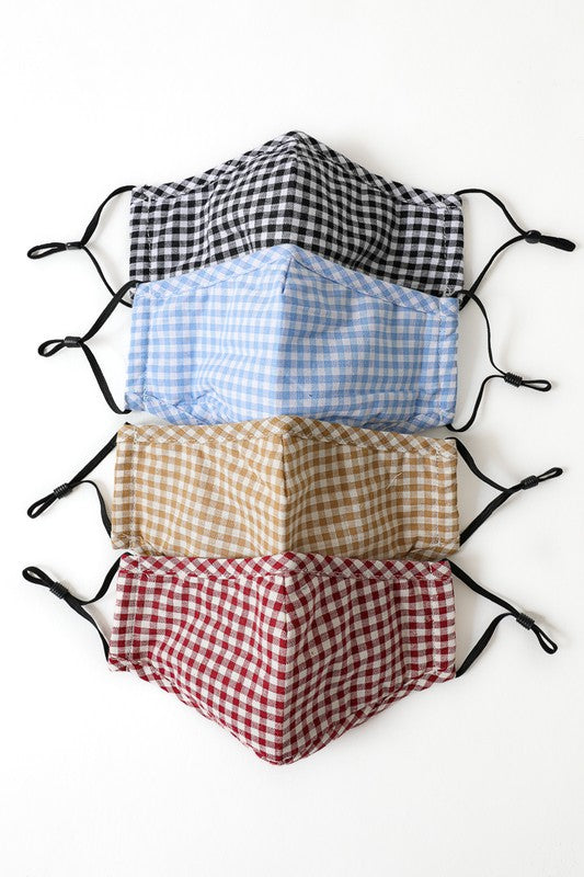 Gingham Cotton Masks