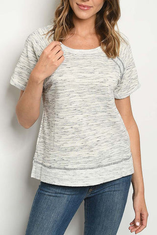 Light Gray French Terry Top
