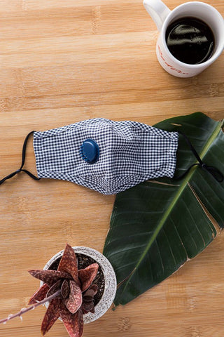 Gingham Masks with Respirator