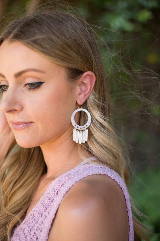 Ivory Chandalier Earrings