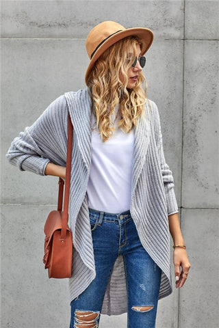 Gray Convertible Cardigan