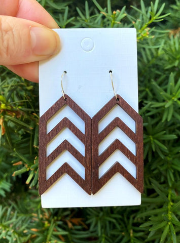 Wood Arrow Earrings