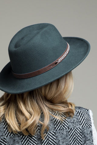 Teal Gray Panama Hat