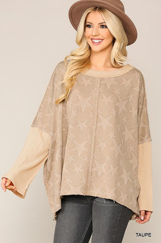 Taupe Starry Top