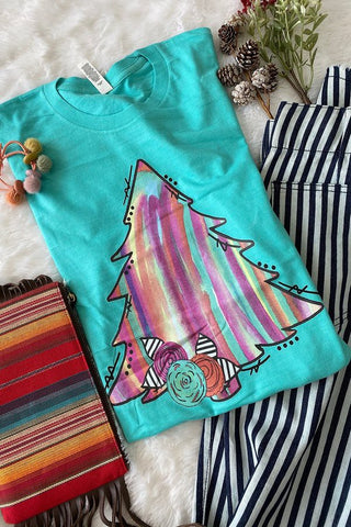 Watercolor Christmas Tee