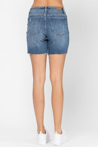 Judy Blue Denim Shorts Vintage Wash