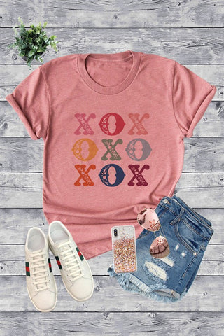 Colorful XOXO Tee