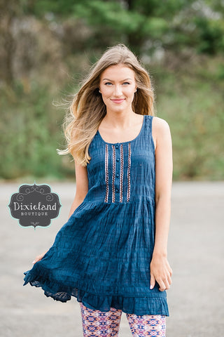 Navy Tiered Tunic