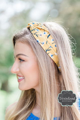 Yellow and Blue Headband
