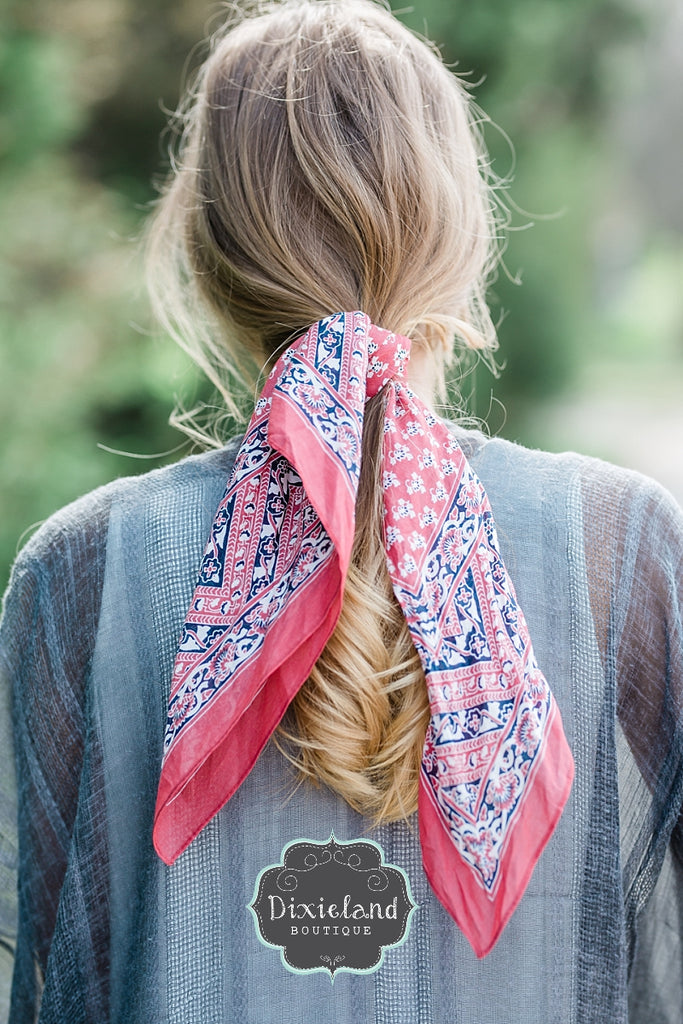 Brick Hair Scarf