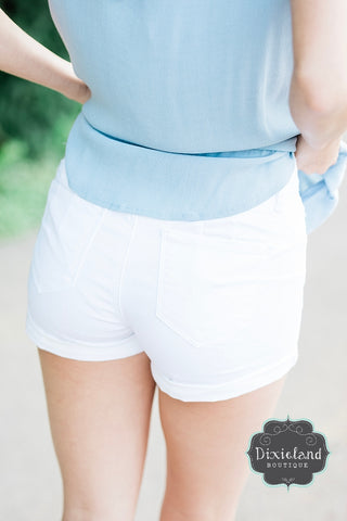 Wax Brand Shorts- White