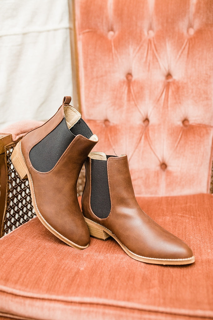 Chase Ankle Booties - Brown