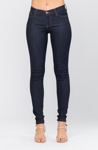 Judy Blue Dark Non-Distressed Jeans