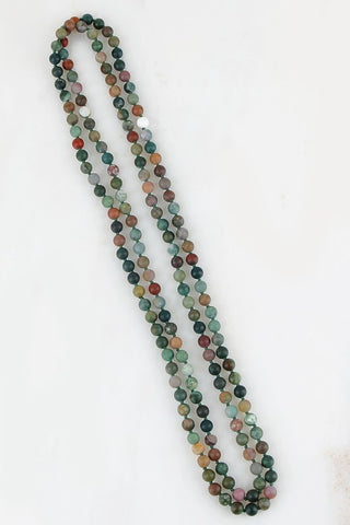 Shades of Green Beaded Necklace
