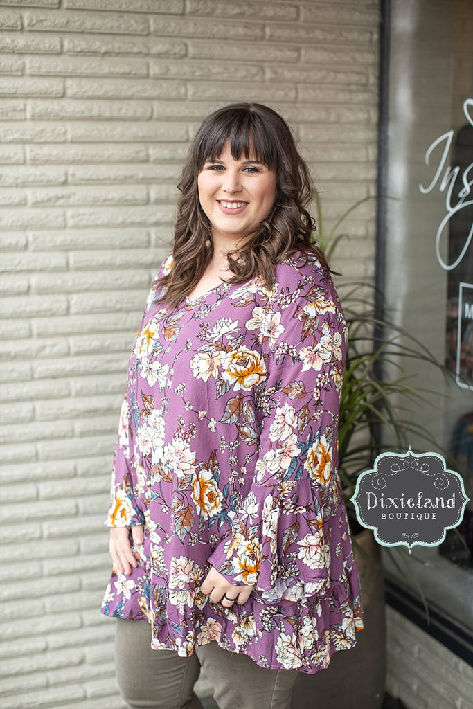 Light Plum Floral Tunic