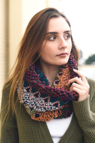 Eclectic Knit Infinity Scarf