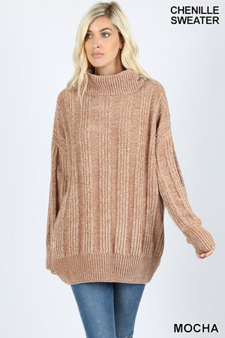 Mocha Turtleneck Sweater