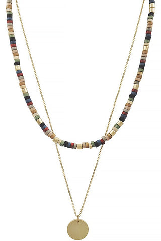 Multi-color Layered Necklace