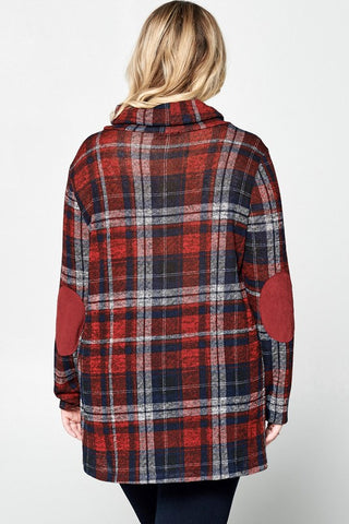 Red Plaid Wrap Top