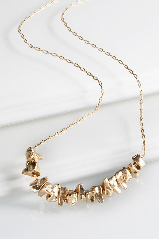 Short Abstract Gold Necklace