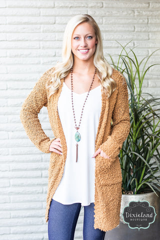 Coffee Popcorn Sweater Cardigan