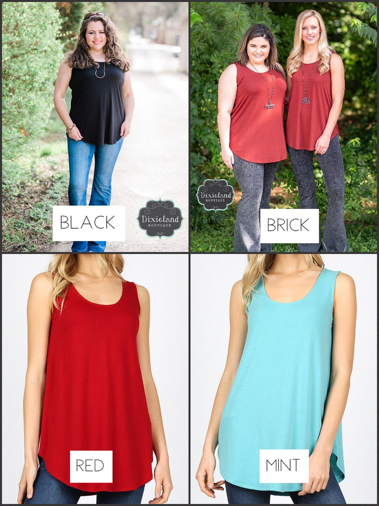 Relaxed Fit Tank (Choose Color)