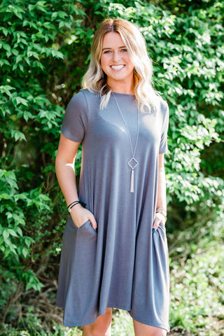 Mid Gray T-shirt Dress