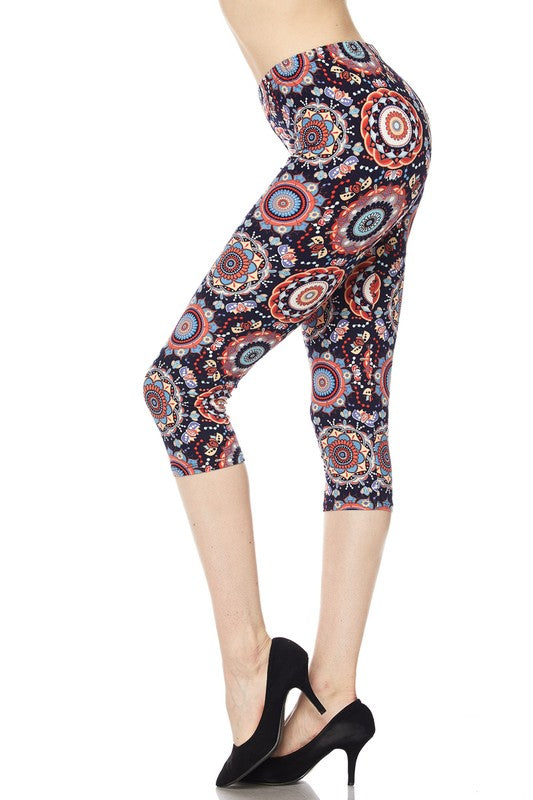 Circle Print Mosaic Leggings