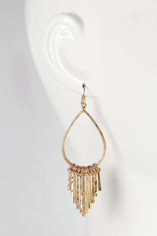 Hoop Earrings with Fringe