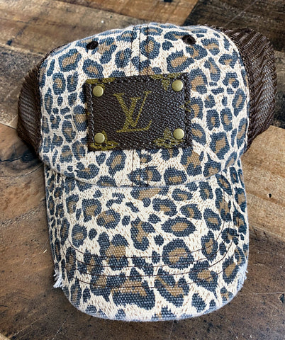 LV Brown Leopard Hat