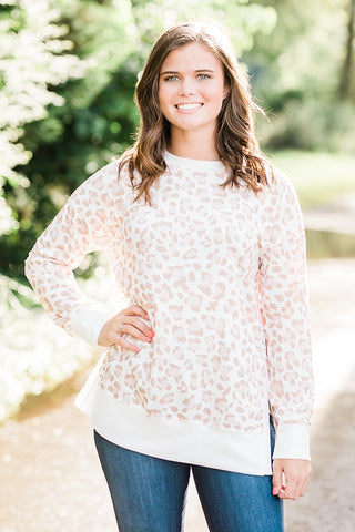 See the Light Leopard Pullover