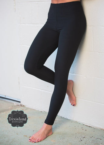 Extra Plus Soft Solid Leggings (3X-5X)