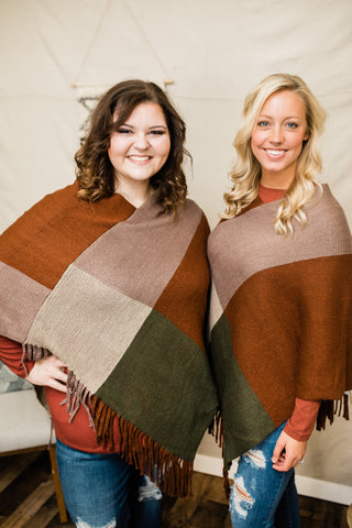 Falling Leaves Poncho