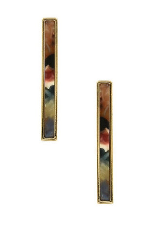 Multi Color Bar Earrings