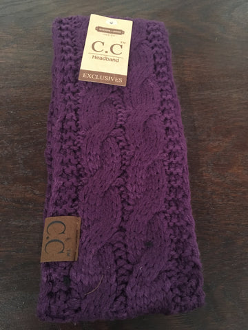 Dark Purple CC Sherpa Lined Headband