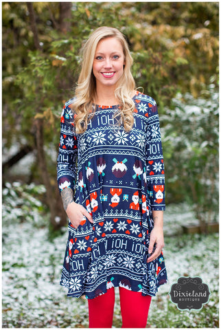 HoHoHo Christmas Tunic Dress