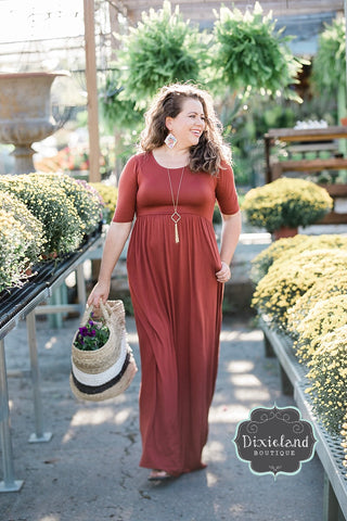 Fired Brick Maxi Dress