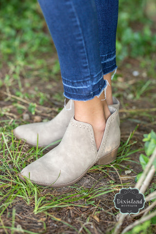 Nerys Booties in Taupe